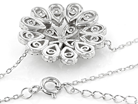 White Cubic Zirconia Rhodium Over Sterling Silver Necklace 2.60ctw