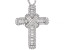 White Cubic Zirconia Rhodium Over Sterling Silver Cross Pendant With Chain 3.66ctw
