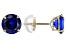 Blue Cubic Zirconia 10k Yellow Gold Stud Earrings 1.70ctw