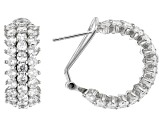 White Cubic Zirconia Rhodium Over Sterling Silver Earrings 9.58ctw