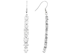 Bella Luce ® 10.73ctw White Cubic Zirconia Rhodium Over Sterling Silver Earrings