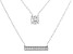 Children's White Cubic Zirconia Rhodium Over Sterling Silver Necklace 0.14ctw