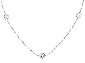 White Cubic Zirconia Rhodium Over Sterling Silver Necklace 11.85ctw