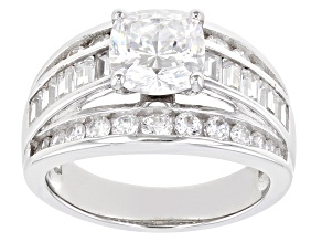 White Cubic Zirconia Rhodium Over Sterling Silver Ring 3.36ctw