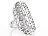White Cubic Zirconia Rhodium Over Sterling Silver Ring 5.41ctw