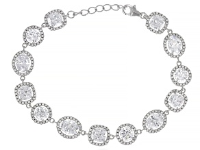White Cubic Zirconia Rhodium Over Sterling Silver Bracelet 27.14ctw
