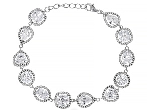 White Cubic Zirconia Rhodium Over Sterling Silver Bracelet 29.96ctw