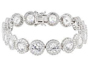 Bella Luce ® 10.82CTW White Cubic Zirconia Rhodium Over Sterling Silver Bracelet