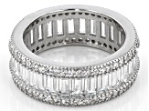 White Cubic Zirconia Rhodium Over Sterling Silver Eternity Band 5.00ctw