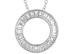 White Cubic Zirconia Rhodium Over Sterling Silver Pendant With Chain 2.23ctw