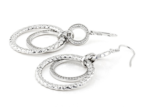 White Cubic Zirconia Rhodium Over Sterling Silver Earrings 2.08ctw