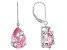Pink And White Cubic Zirconia Rhodium Over Sterling Silver Dangle Earrings 16.90ctw