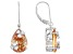 Champagne And White Cubic Zirconia Rhodium Over Sterling Silver Dangle Earrings 16.90ctw
