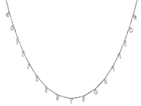 White Cubic Zirconia Rhodium Over Sterling Silver Necklace 7.15ctw