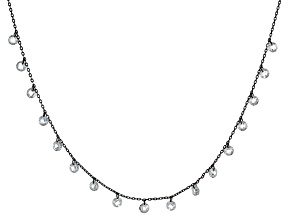 White Cubic Zirconia Black Rhodium Over Sterling Silver Necklace 7.15ctw