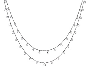 White Cubic Zirconia Rhodium Over Sterling Silver Necklace 16.70ctw