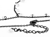 White Cubic Zirconia Black Rhodium Over Sterling Silver Necklace 13.51ctw