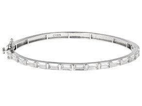 White Cubic Zirconia Rhodium Over Sterling Silver Bracelet 4.35ctw