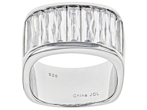 White Cubic Zirconia Rhodium Over Sterling Silver Ring 7.14ctw