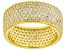 White Cubic Zirconia 18k Yellow Gold Over Sterling Silver Ring 4.47ctw