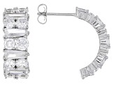 White Cubic Zirconia Rhodium Over Sterling Silver Earrings 14.90ctw