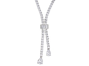 White Cubic Zirconia Rhodium Over Sterling Silver Necklace 39.66ctw