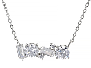 White Cubic Zirconia Rhodium Over Sterling Silver Necklace 2.62ctw