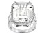 White Cubic Zirconia Rhodium Over Sterling Silver Ring 20.26ctw