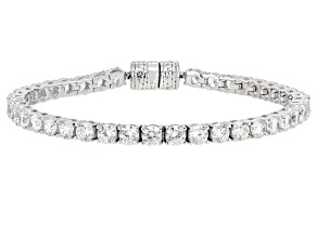 White Cubic Zirconia Rhodium Over Sterling Silver Bracelet 15.50ctw