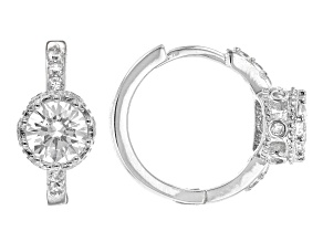White Cubic Zirconia Rhodium Over Sterling Silver Earrings 2.39ctw