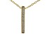 """White Cubic Zirconia 18k Yellow Gold Over Sterling Silver """"Faith"""" Pendant With Chain 0.13ctw"""