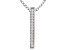 """White Cubic Zirconia Rhodium Over Sterling Silver """"Faith"""" Pendant With Chain 0.13ctw"""