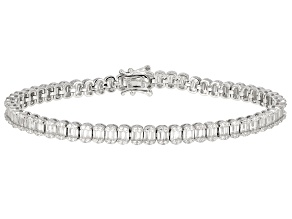 White Cubic Zirconia Rhodium Over Sterling Silver Tennis Bracelet 9.03ctw