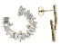 White Cubic Zirconia 18k Yellow Gold Over Sterling Silver Earrings 6.30ctw