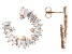 White Cubic Zirconia 18k Rose Gold Over Sterling Silver Earrings 6.30ctw