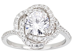 Cubic Zirconia Rhodium Over Sterling Silver Ring