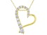 White Cubic Zirconia 18k Yellow Gold Over Sterling Silver Heart Pendant With Chain 1.15tw