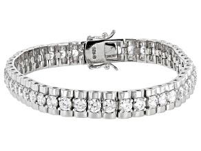 Cubic Zirconia Platinum Over Sterling Silver Bracelet 14.25ctw