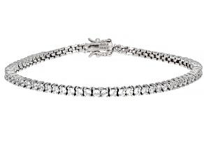 Cubic Zirconia Platinum Over Sterling Silver Bracelet 8.77ctw