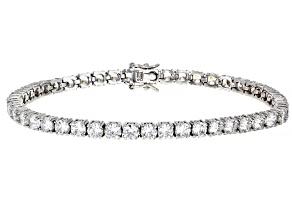 Cubic Zirconia Platinum Over Sterling Silver Bracelet. 22.47ctw