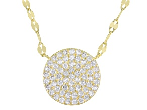 Cubic Zirconia 18k Yellow Gold Over Sterling Silver Necklace 0.63ctw  (0.31 DEW)