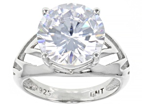 White Cubic Zirconia Rhodium Over Sterling Silver Ring (DEW 6.84ctw)