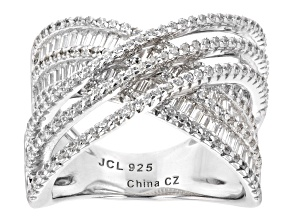 White Cubic Zirconia Rhodium Over Sterling Silver Ring (1.90ctw DEW)