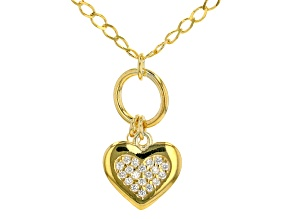White Cubic Zirconia 18K Yellow Gold Over Sterling Silver Necklace 0.27ctw