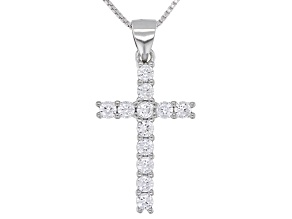 White Cubic Zirconia Rhodium Over Sterling Silver Pendant With Chain 1.73ctw