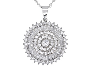 Bella Luce® White Cubic Zirconia Rhodium Over Silver Pendant With Chain 6.02ctw