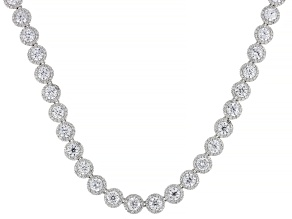 White Cubic Zirconia Rhodium Over Sterling Silver Necklace 66.00ctw