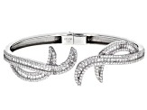 White Cubic Zirconia Rhodium Over Sterling Silver Bracelet 6.92ctw