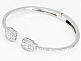 White Cubic Zirconia Rhodium Over Sterling Silver Bracelet 3.91ctw