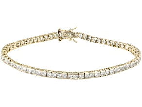 White Cubic Zirconia 14k Yellow Gold Over Sterling Silver Bracelet 9.60ctw